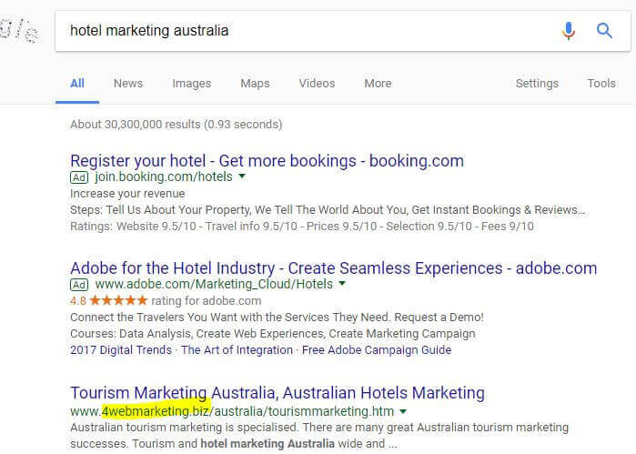Hotel Marketing Perth Australia