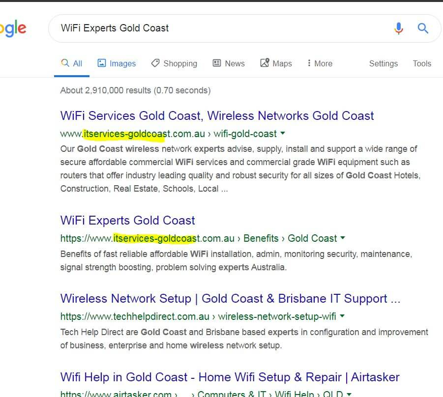 WiFi services Gold Coast